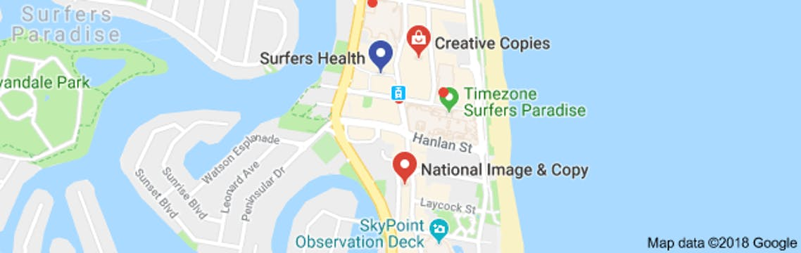 Map of Surfers Health Medical Centre