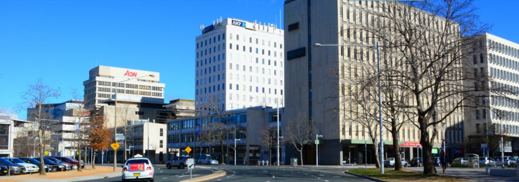 Street view of AMP Building