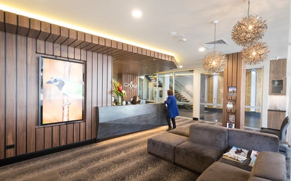 Enjoy our Aria Dental Reception area before your appointment