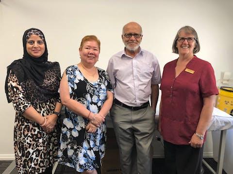Dr Tabasum, Dr Limgenco, Dr Palekar and Nurse Susie