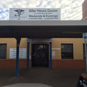 Canterbury After Hours Clinic at Canterbury Hospital
