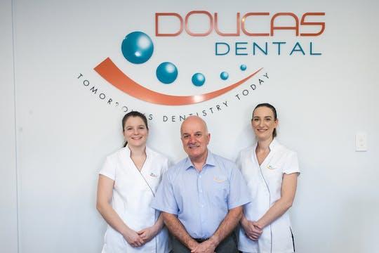 Dr Eva Kierath, Dr Gregory Doucas, Dr Elisia Doucas