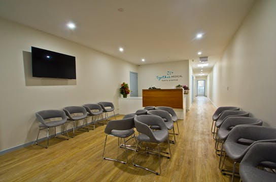 Our lovely waiting room