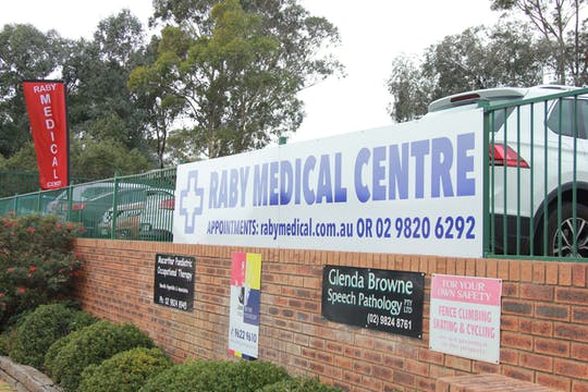 Spotting Raby Medical Centre from the street